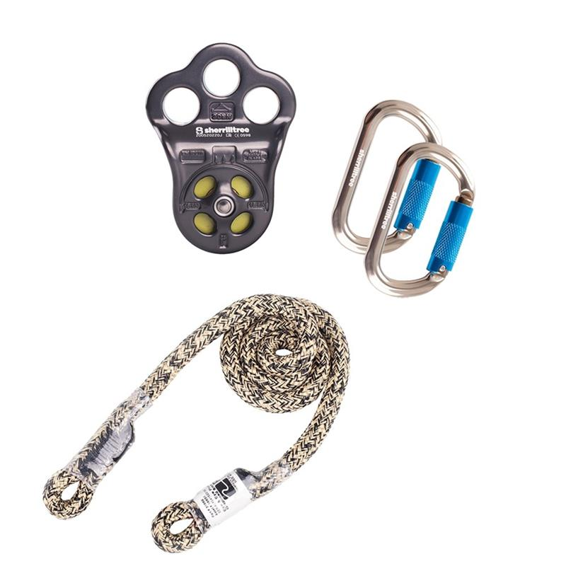 """CMI MICRO PULLEY W// SWIVEL SNAP /& TETHER ARBORIST CLIMBING UP TO 1//2/"""" ROPE"""